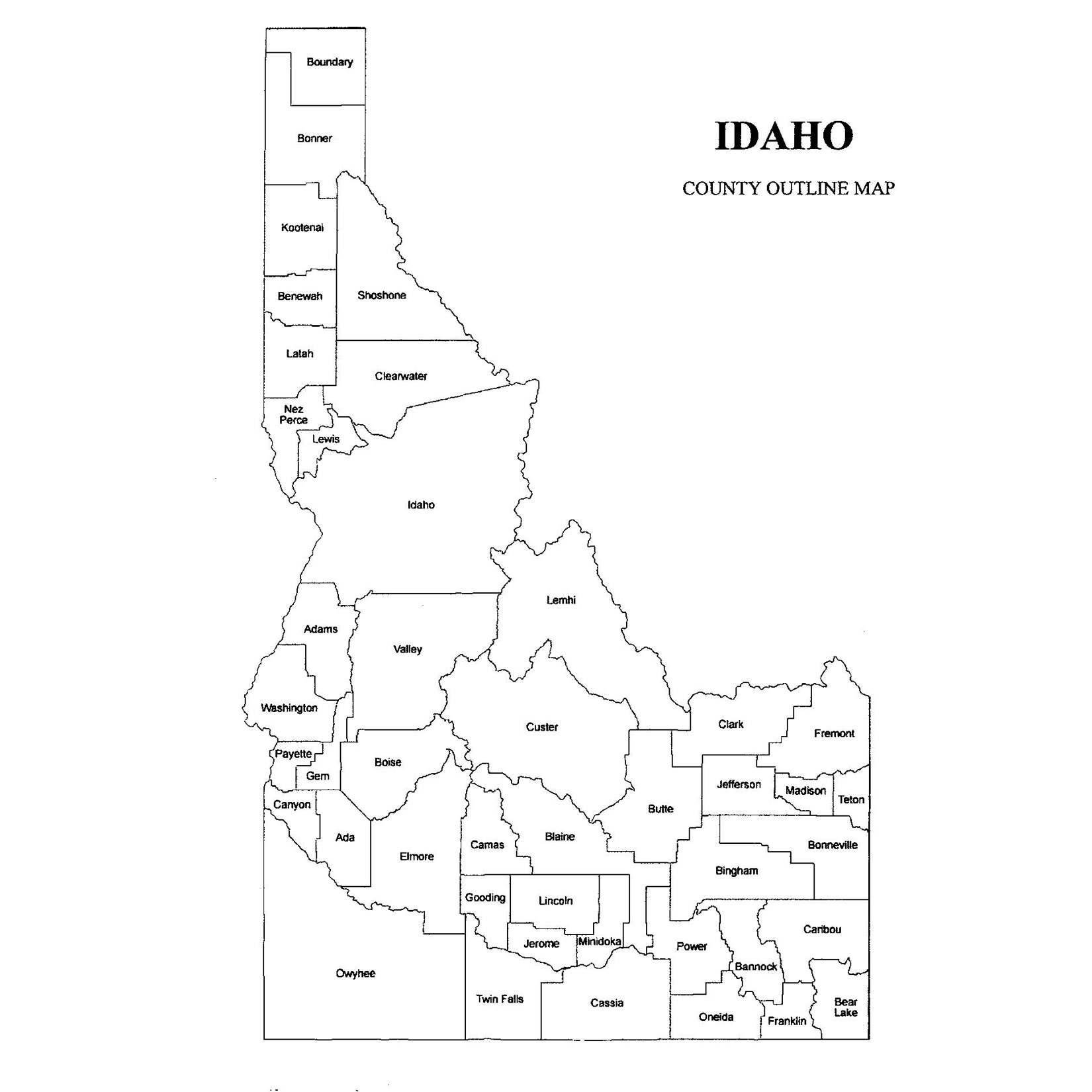 Idaho County Map Idaho County Map – Jigsaw Genealogy Idaho County Map