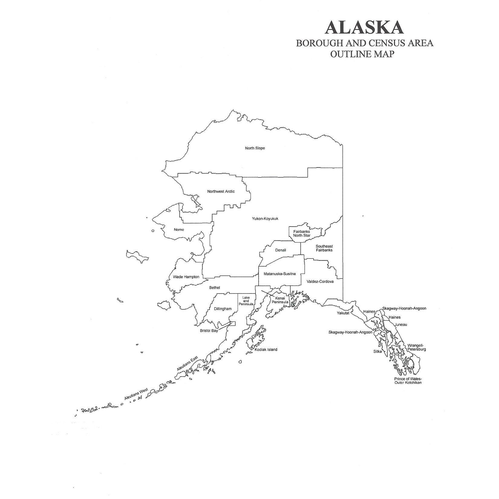 Alaska County Map Alaska Borough and Census Area Map – Jigsaw Genealogy Alaska County Map